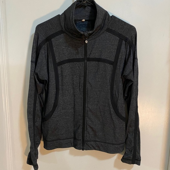 Lululemon Grey and Black Zip Up Jacket